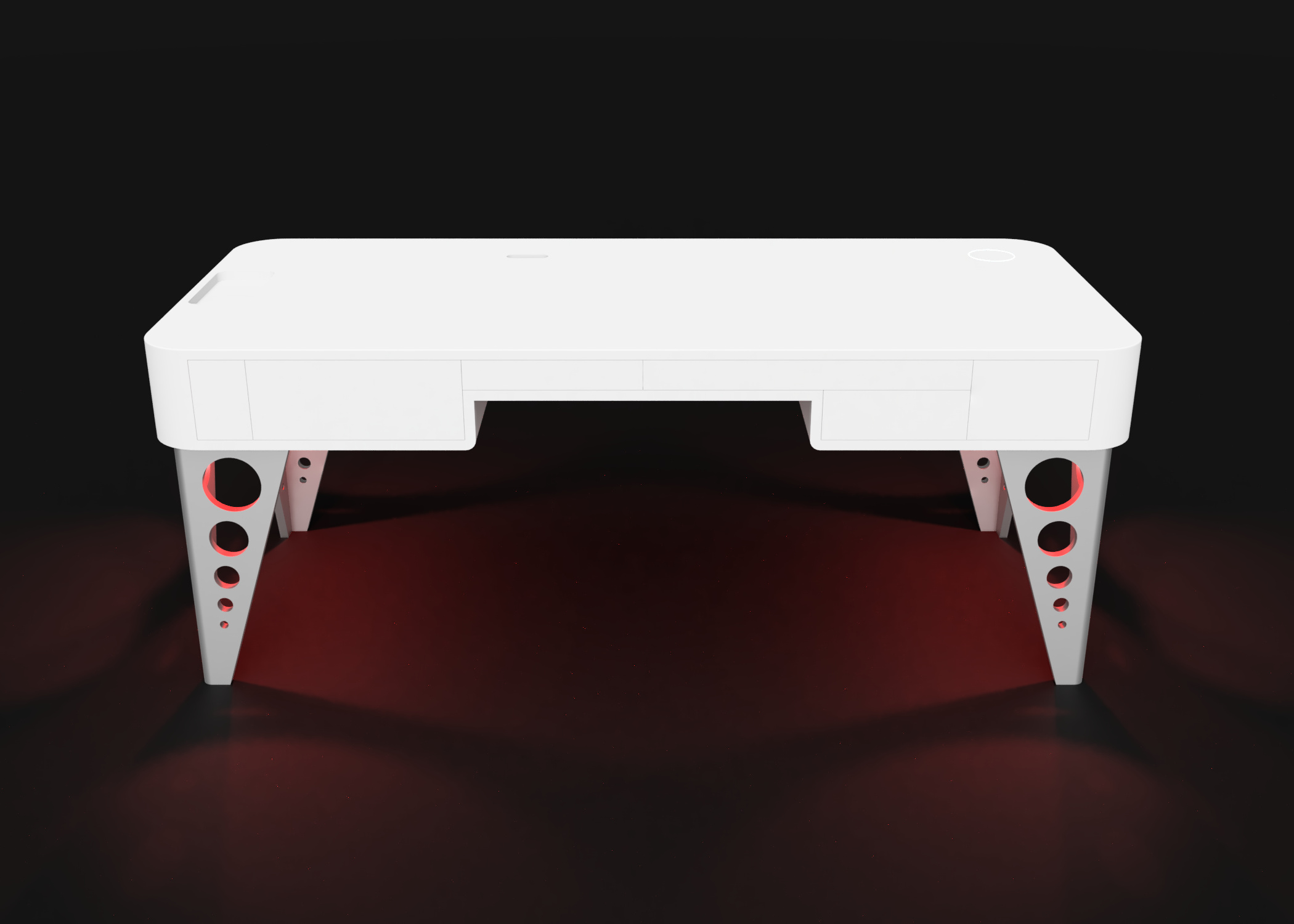 Mesa despacho Arion color rojo
