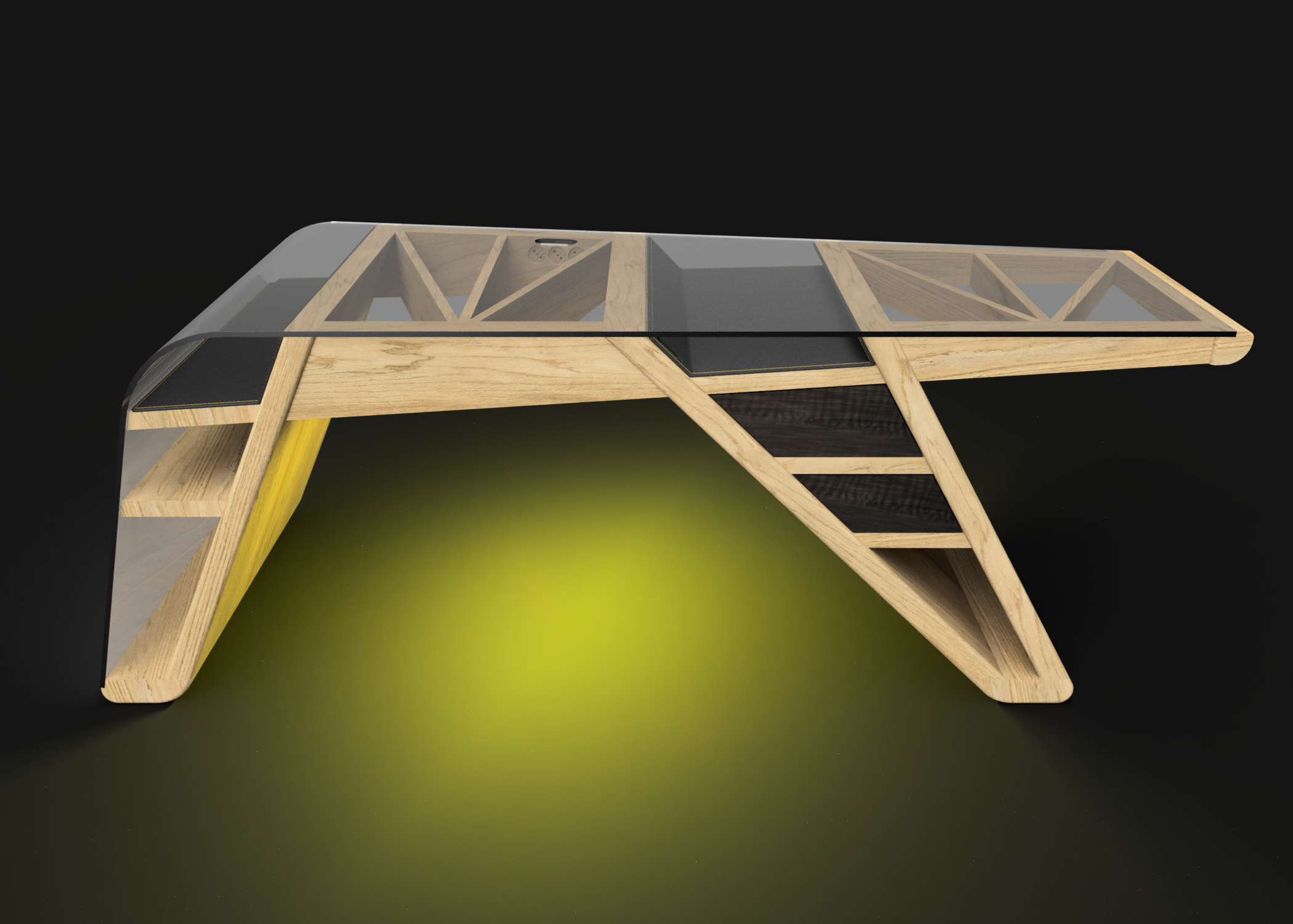 Mesa despacho Corsair luz amarilla