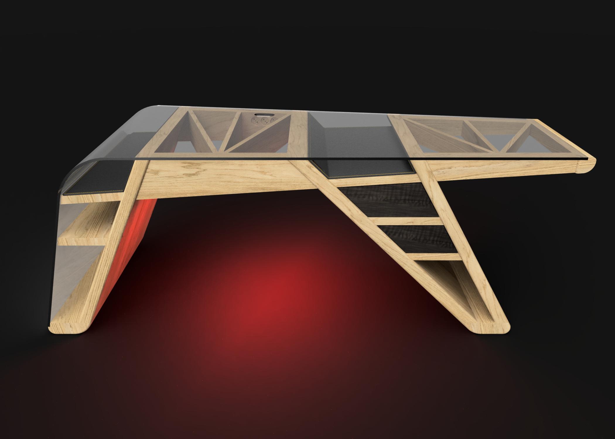 Mesa despacho Corsair luz roja