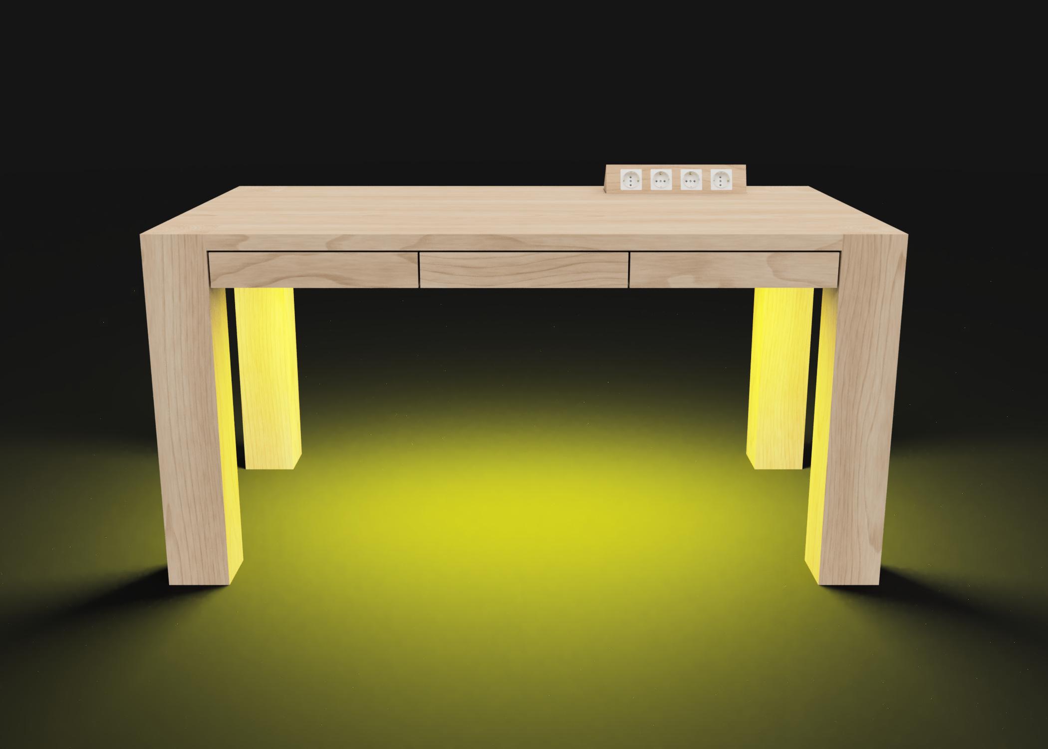 Mesa modelo Genius Luz amarilla