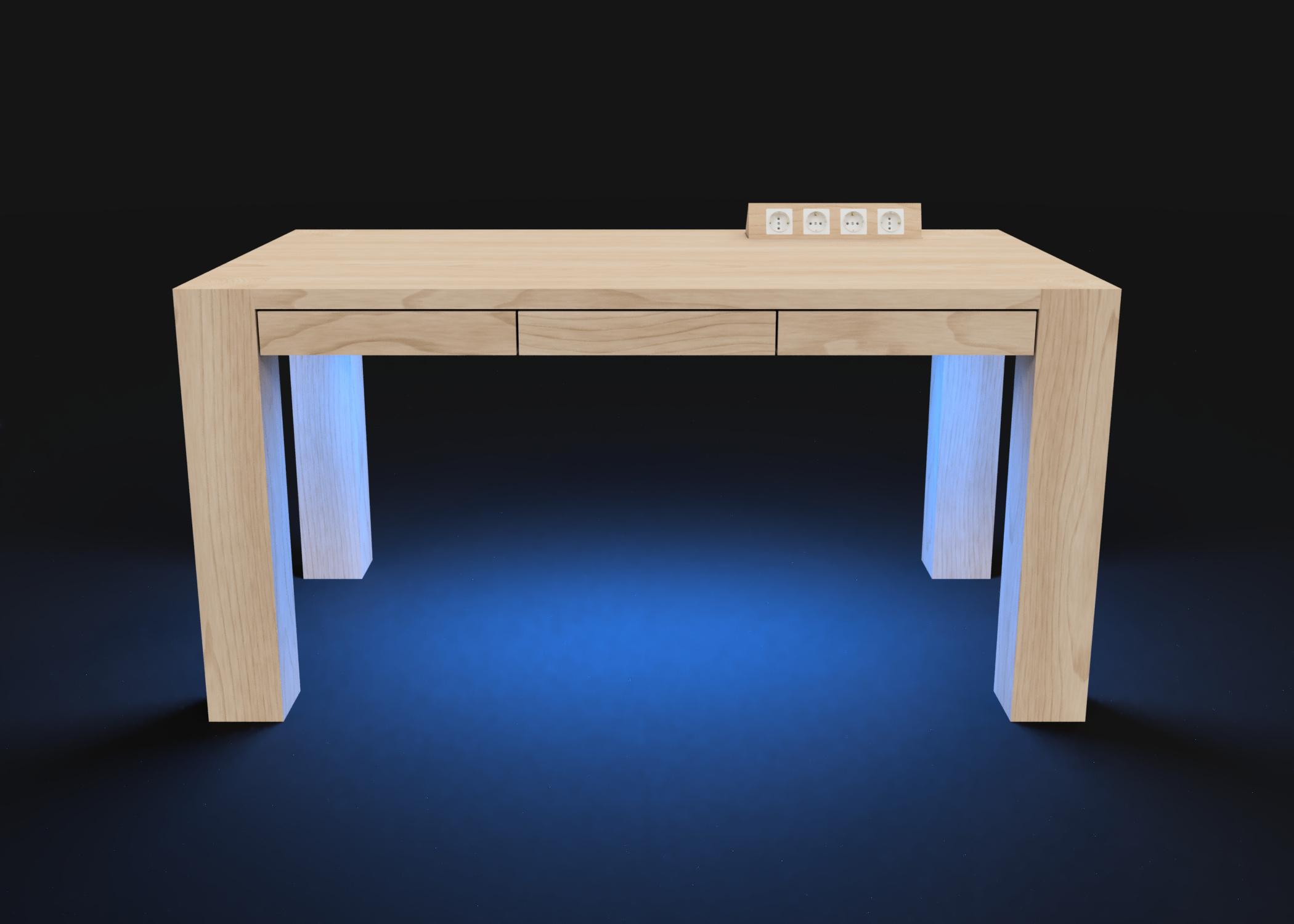 Mesa modelo Genius Luz azul