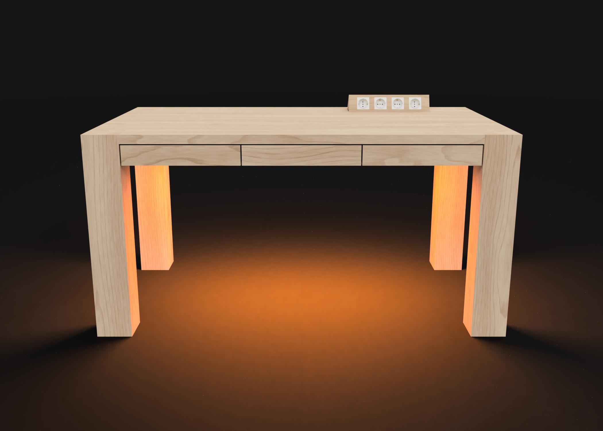 Mesa modelo Genius Luz naranja