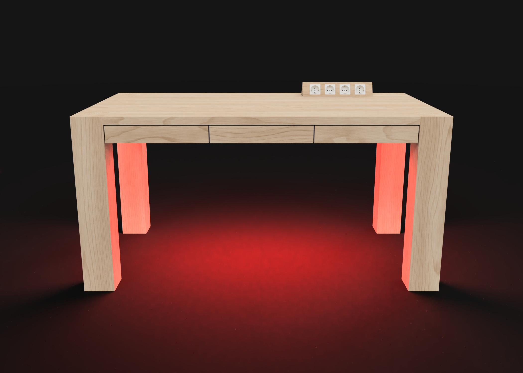 Mesa modelo Genius Luz roja