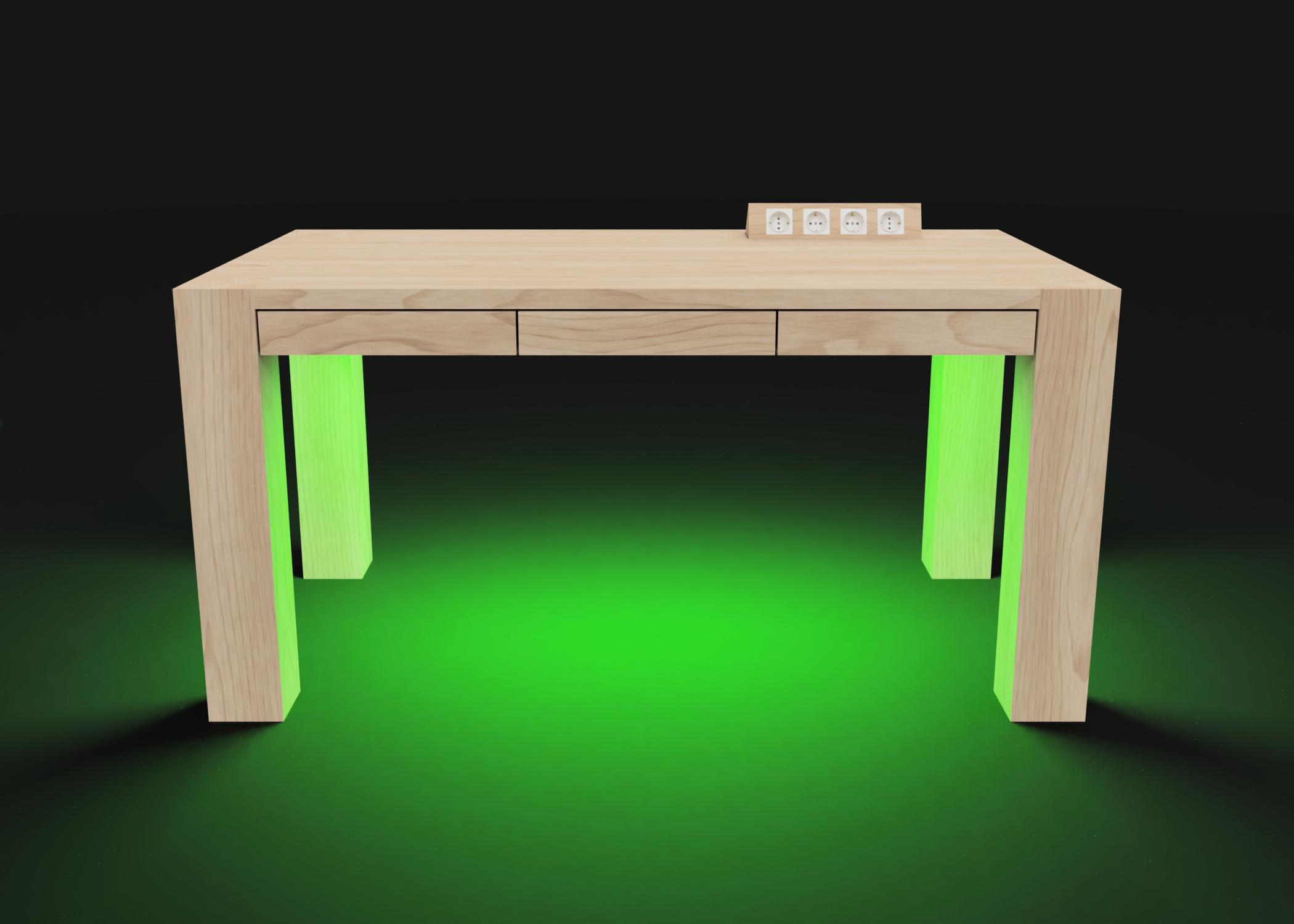 Mesa modelo Genius Luz verde