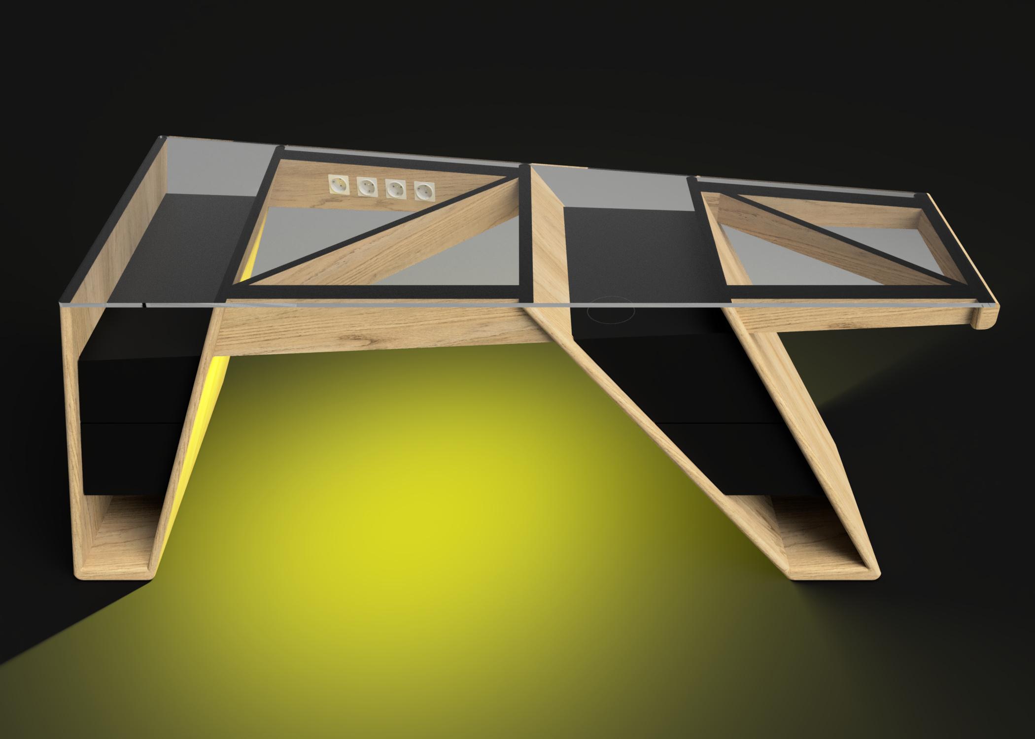 Mesa modelo Klemm luz amarilla