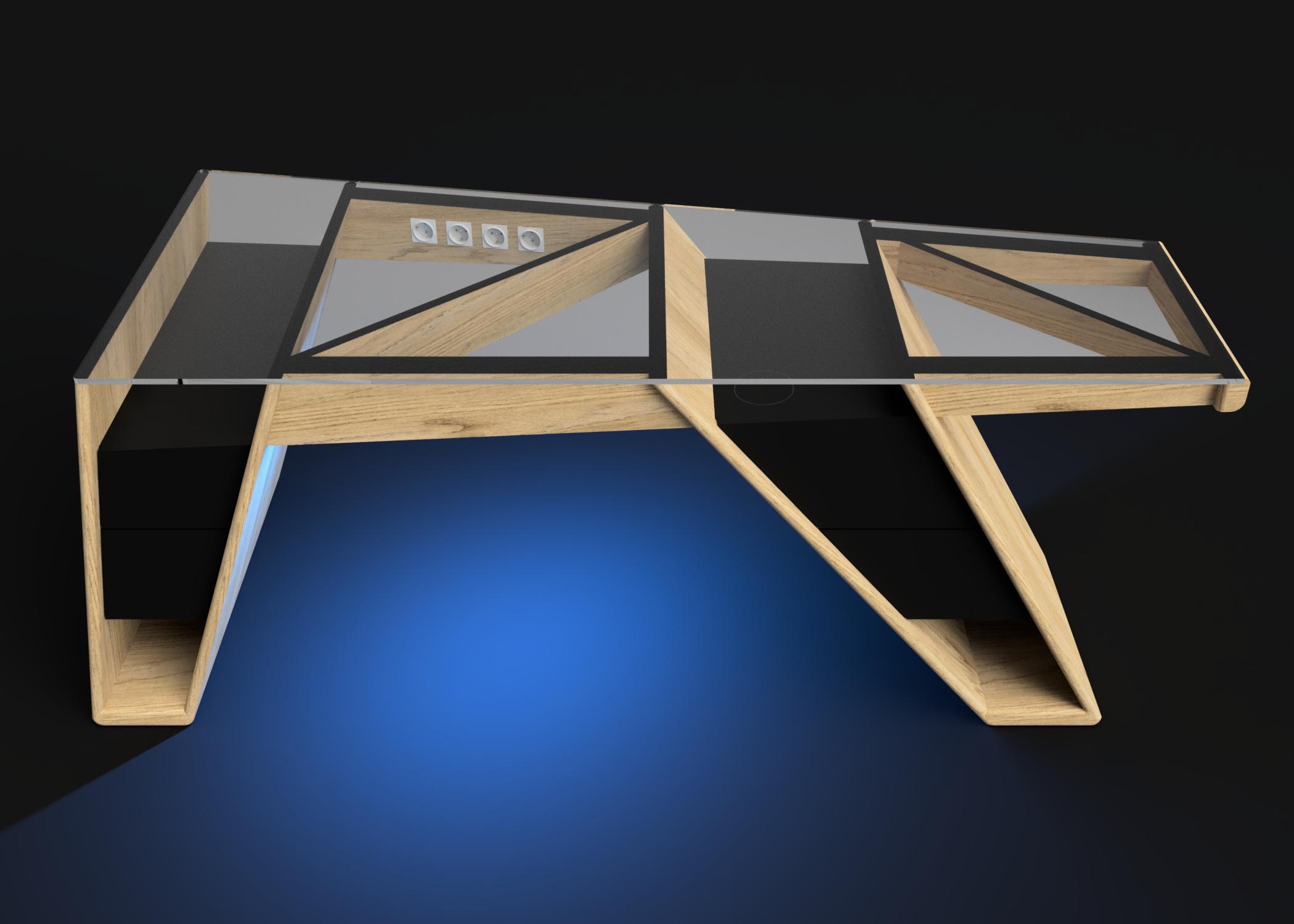Mesa modelo Klemm luz azul