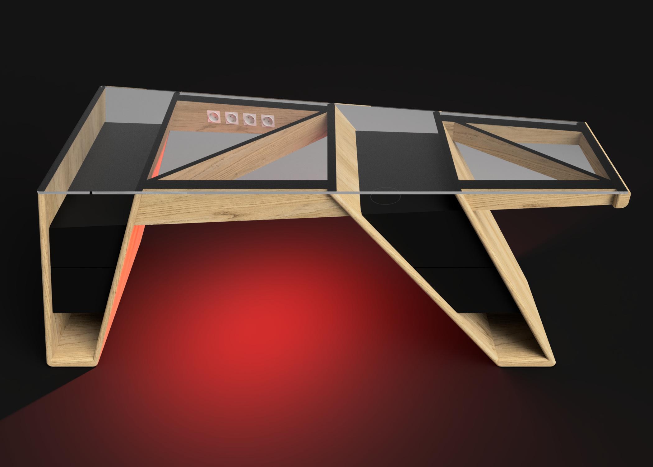 Mesa modelo Klemm luz roja