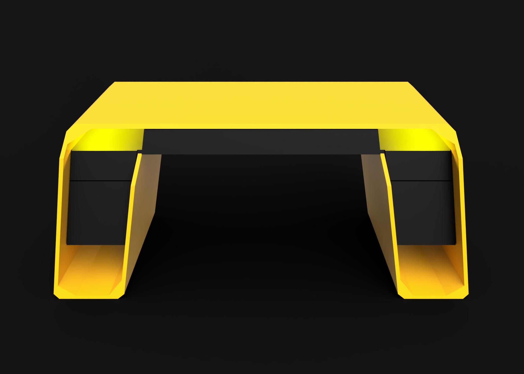 Mesa modelo Lambo luz amarillo