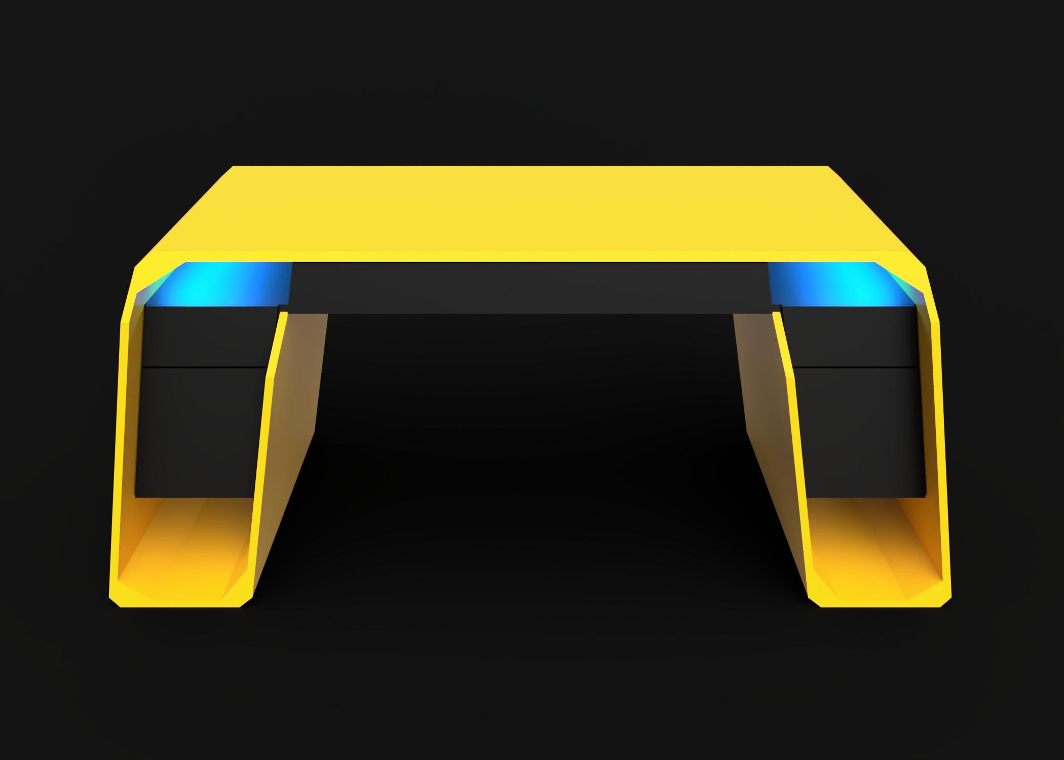 Mesa modelo Lambo luz azul