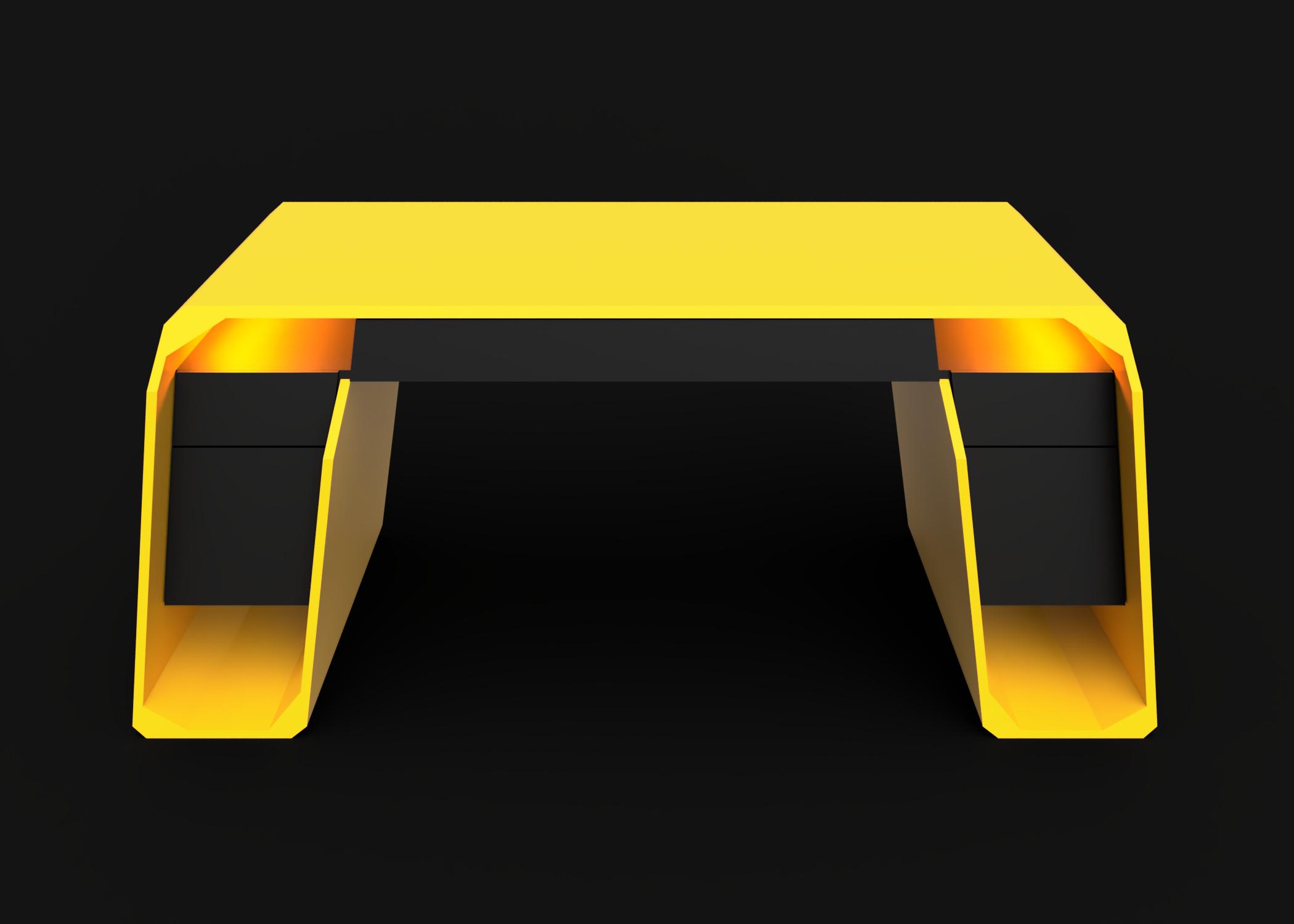 Mesa modelo Lambo luz naranja