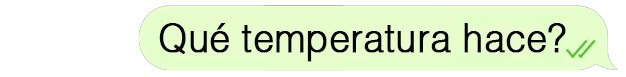 Bocadillo temperatura pregunta
